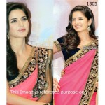 Katrina Saree Katrina Pink Rose Saree Bollywood Sarees